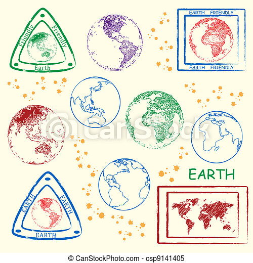 Earth Stamp Set - csp9141405