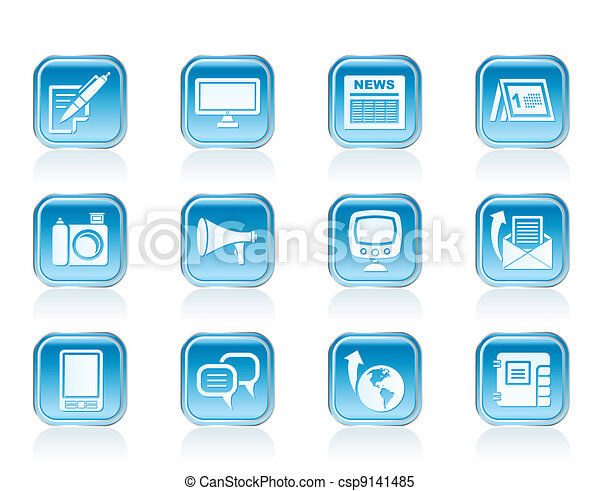 Communication channels icons - csp9141485