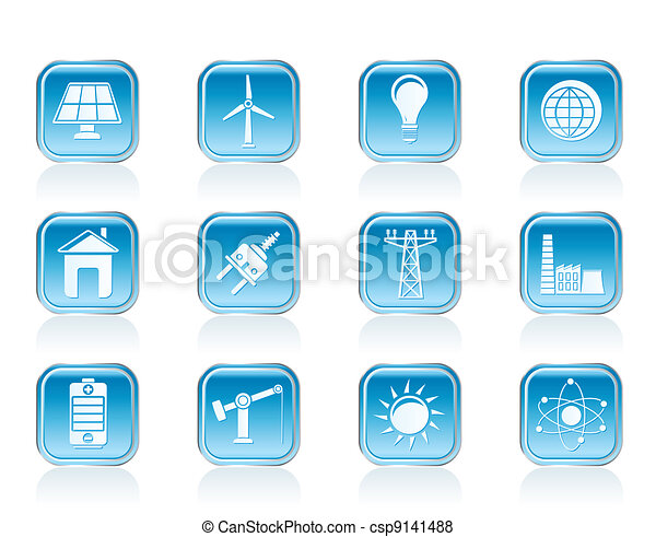 power, energy and electricity icons - csp9141488