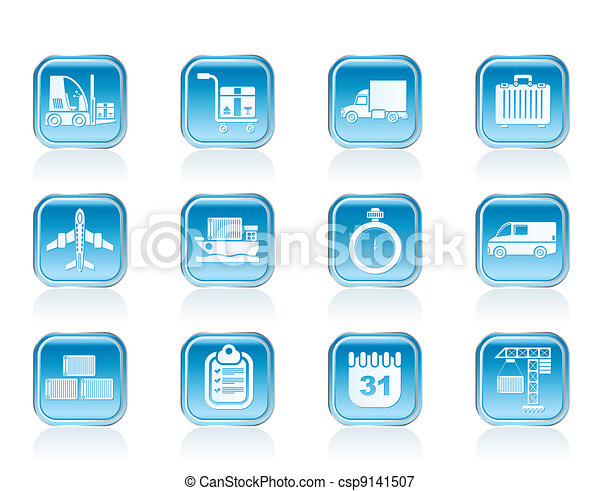 logistics, shipping icons - csp9141507