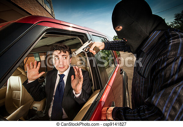 Robbery of the businessman - csp9141827