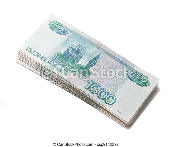 Sheaf of russian roubles - csp9142597
