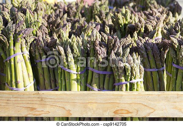 Organic  fresh wild asparagus - csp9142705