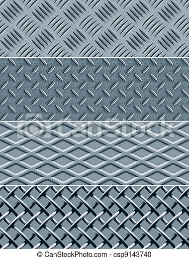 Metal texture seamless patterns - csp9143740