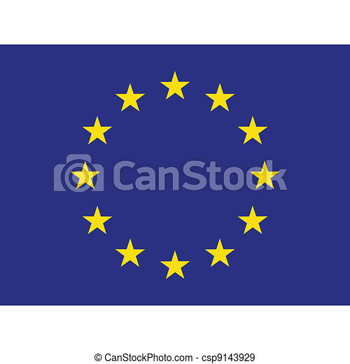 Flag of Europe - csp9143929