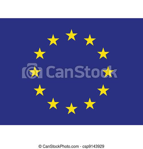 Flag of Europe - csp9143929
