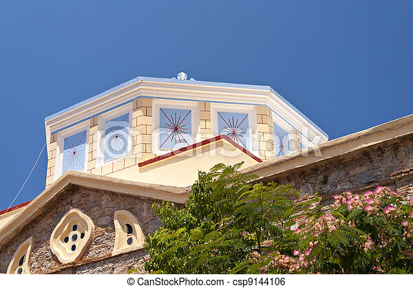希腊的教堂 - csp9144106