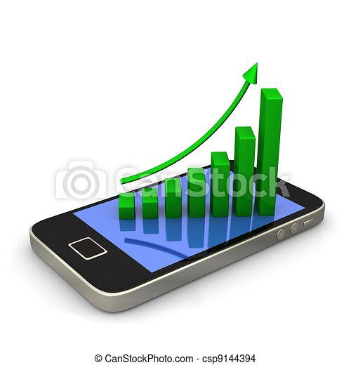 Smartphone Green Chart - csp9144394