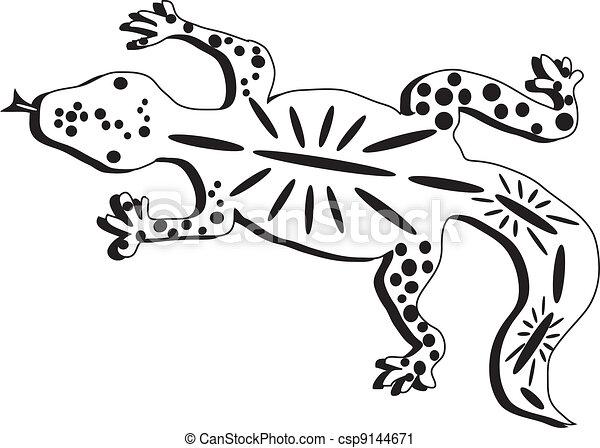 Black And White Lizard - csp9144671