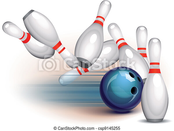 Bowling Game (side view) - csp9145255