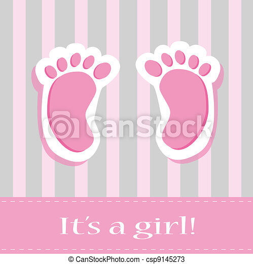 Vectors of It's A Girl Baby Feet - It's a girl baby feet ...