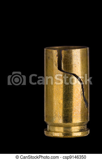 Cracked 9 mm shell casing - csp9146350