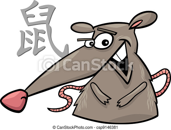 Rat Chinese horoscope sign - csp9146381