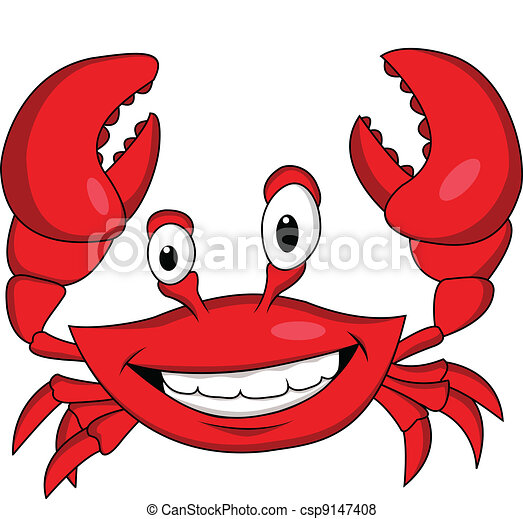 Funny crab cartoon - csp9147408
