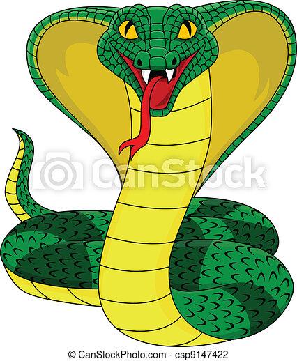 angry cobra snake - csp9147422