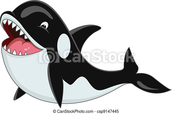 Orca cartoon - csp9147445