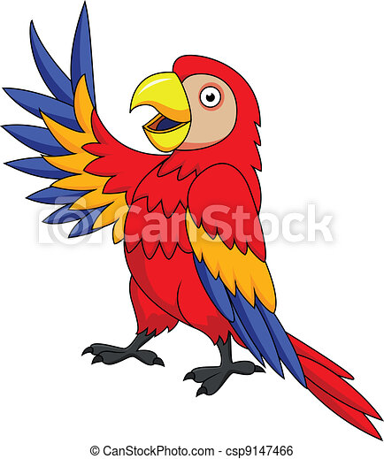 Macaw bird cartoon  - csp9147466