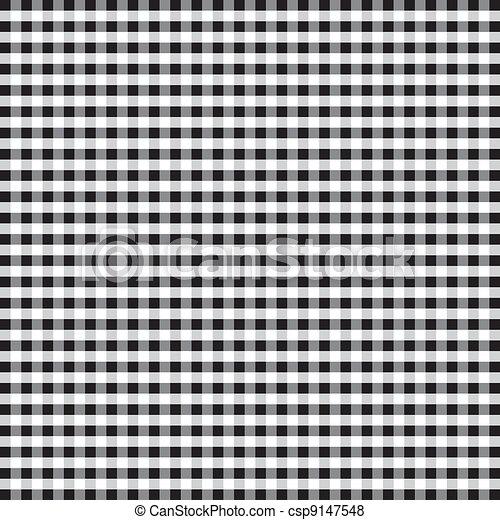 Seamless Pattern, Black Gingham - csp9147548