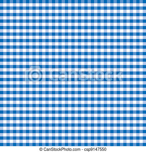 Seamless Pattern, Blue Gingham - csp9147550