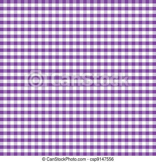 Seamless Pattern, Purple Gingham - csp9147556