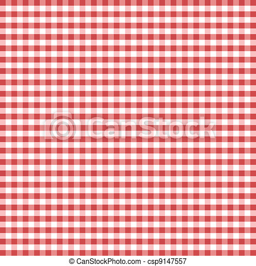 Seamless Pattern, Red Gingham - csp9147557