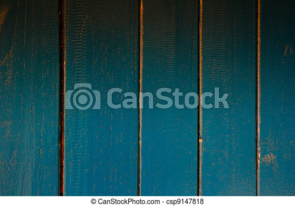 texture of blue wooden background