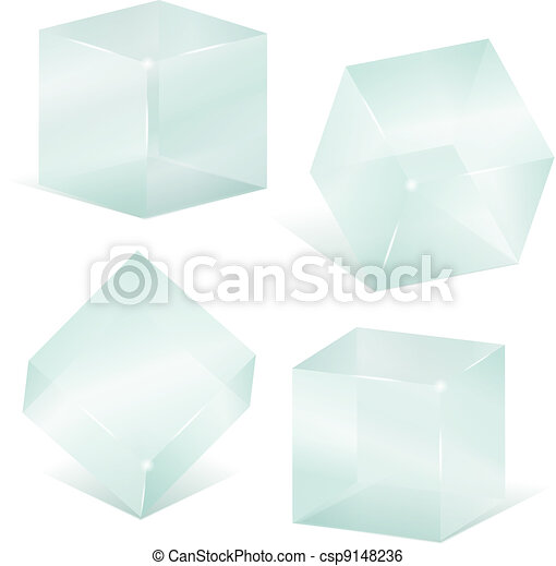 Transparent glass cubes - csp9148236