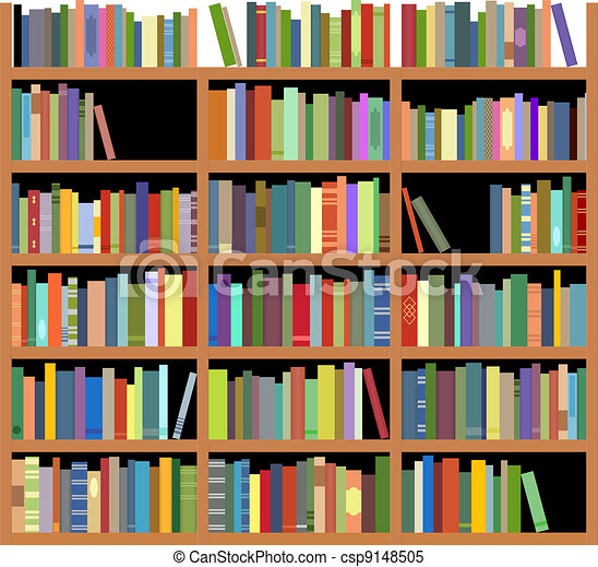 Bücherregal clipart schwarz weiß  Bücherregal Illustrationen und Clip-Art. 12.229 Bücherregal ...