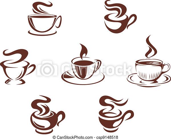 Coffee cups and mugs - csp9148518