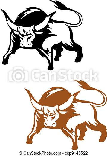 Wild buffalo bull - csp9148522