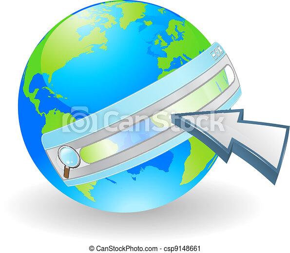 Vector Clip Art of Internet web search concept - Web ...