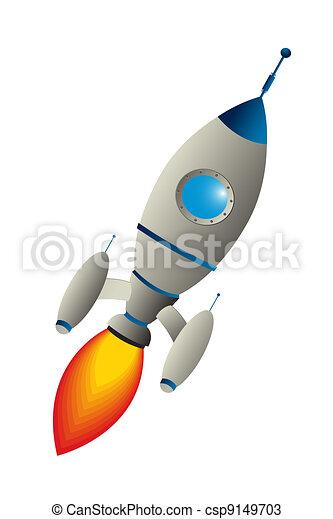 Clip art rocket - csp9149703