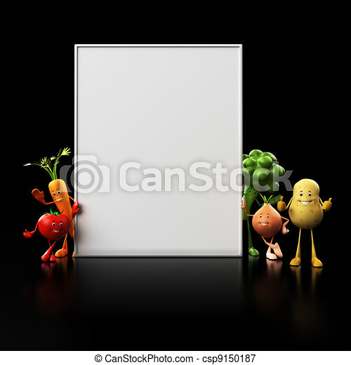 Funny food characters - csp9150187