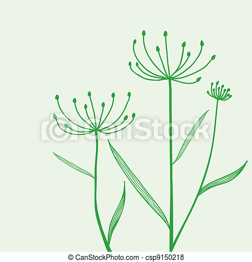 Plant on green background - csp9150218
