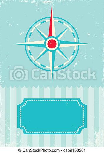 Retro wind rose compass - csp9150281