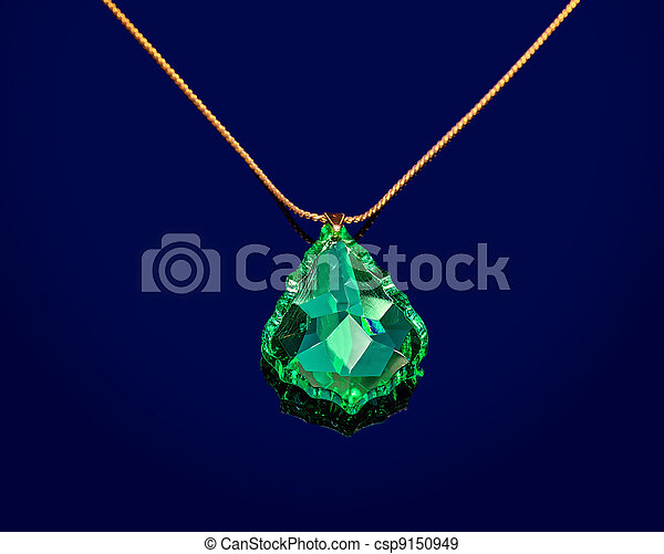 Jewelry with green sapphire - csp9150949