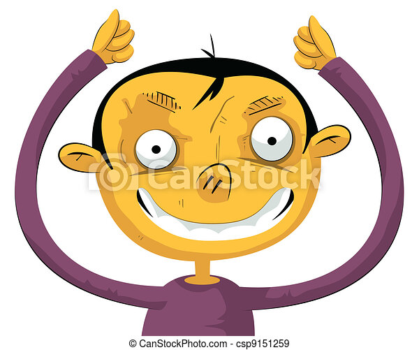 Boy with hands up - csp9151259