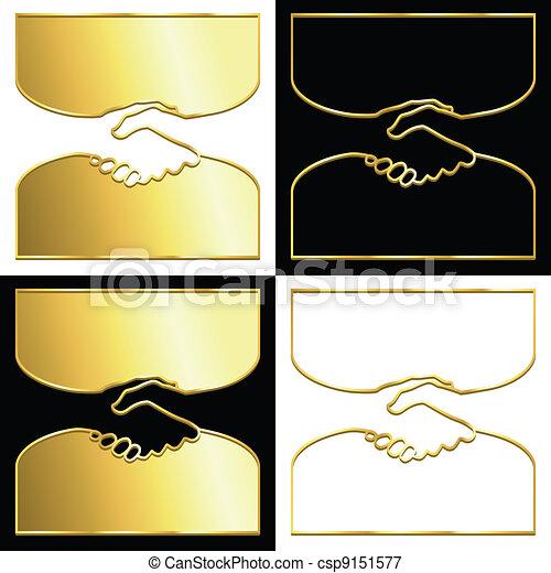 Golden handshake - csp9151577