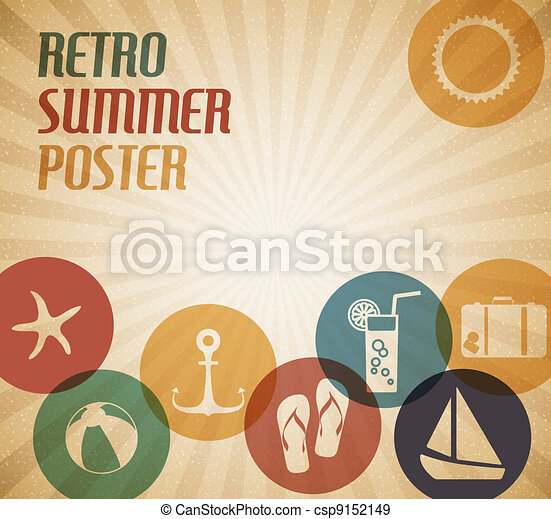 Vector summer poster - csp9152149