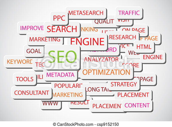 SEO - Search Engine Optimization vector background - csp9152150