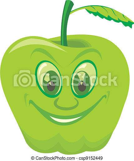 delicious green apple illustration - photo #35
