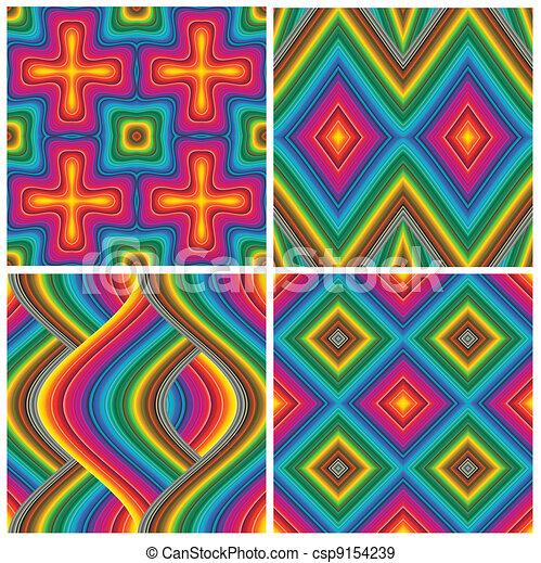 Set of vector art deco pattern - csp9154239
