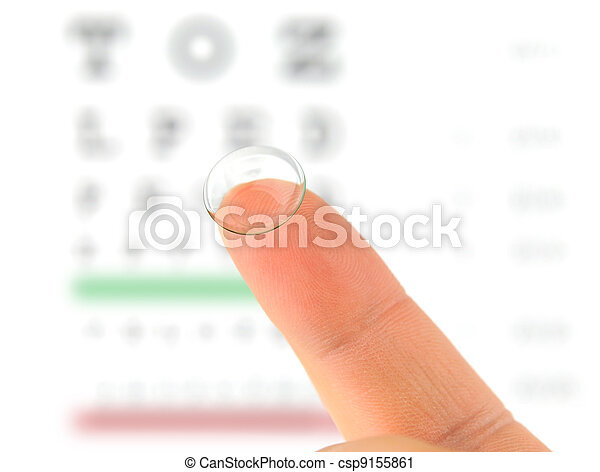 Contact lens and eye test chart  - csp9155861