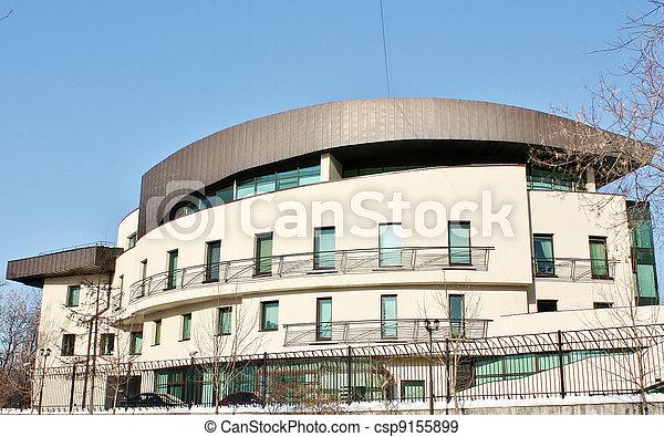 Facade of High-tech style building - csp9155899