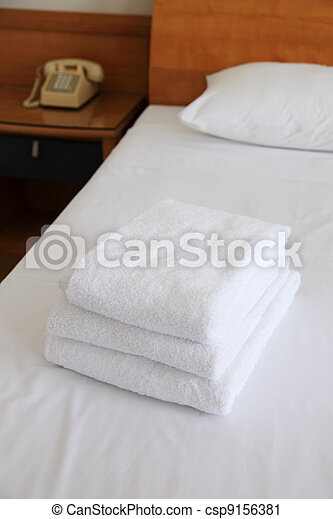 towels for guest - csp9156381
