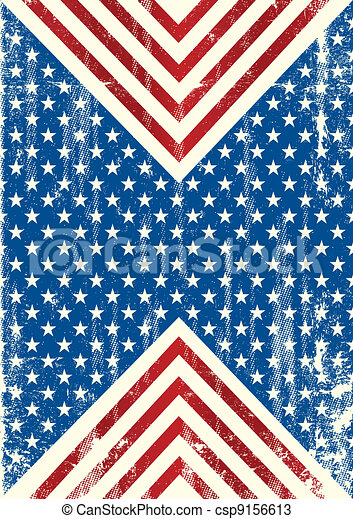 American flag dirty background - csp9156613