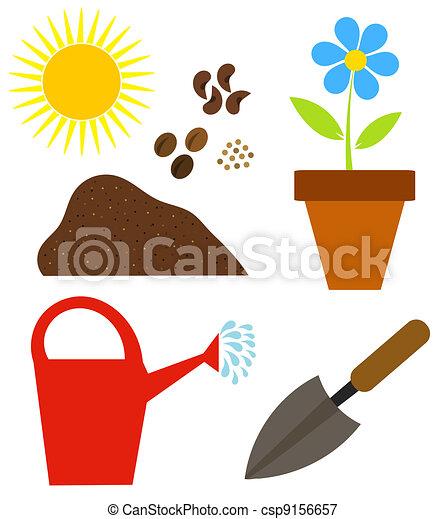 Vector jardiner a elementos stock de ilustracion for Elementos de jardineria
