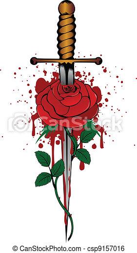 rose and dagger - csp9157016