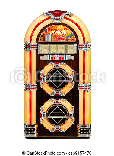 Retro Jukebox isolated - csp9157470