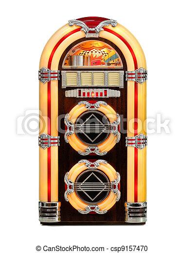 Retro Jukebox isolated - csp9157470